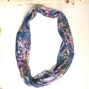 J. Jill Accessories - J Jill Blue Floral Infinity Fashion Scarf
